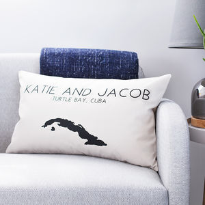 Personalised Location Map Cushion