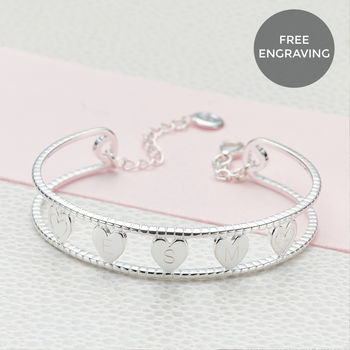 Personalised Her Love Bangle