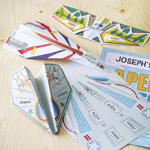 Personalised Paper Planes Kit - gifts for children