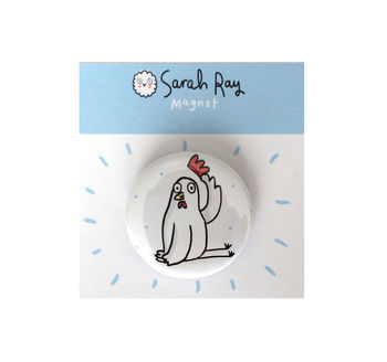'Polite Chicken' Magnet Or Pin Badge
