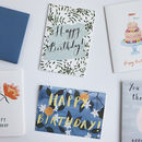 Pack Of Five Illustrated Birthday Cards