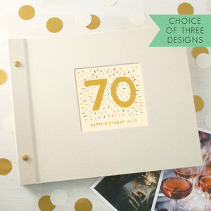Personalised 70th Birthday Photo Album - albums & guest books