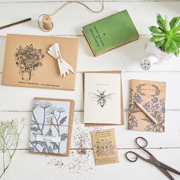 Three Month Wildflower Seed And Stationery Subscription