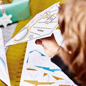 Personalised Paper Planes Kit - stocking fillers