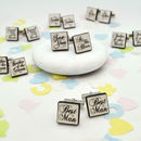 Wedding Cufflinks Confetti Style Six Or More Pairs
