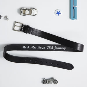 Personalised Secret Message Belt - gifts for him