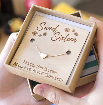 'Sweet Sixteen' Personalised Heart Bracelet
