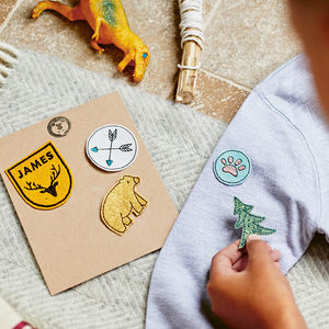 Personalised Adventure Embroidered Patch Set - gifts for tweens