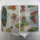 Multicoloured Butterfly Print Scarf