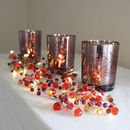 Graphite And Amber Crystal Light Garland