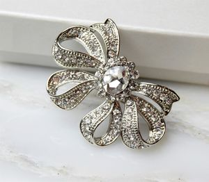 Bow Diamante Brooch - pins & brooches