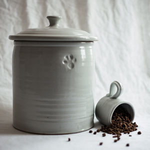 Pottery Pet Food Storage Jar