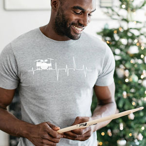 Personalised Heartbeat Hobby T Shirt - gifts for him