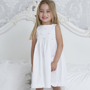 Flower Girl's Personalised Cotton Dress - flower girl dresses