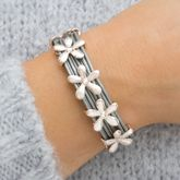 Alita Multi Strand Personalised Flower Bracelet - women's jewellery