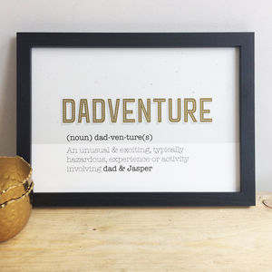 Dadventure Father's Day Print Framed