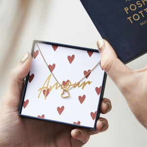 'Amour' Necklace Gift Box