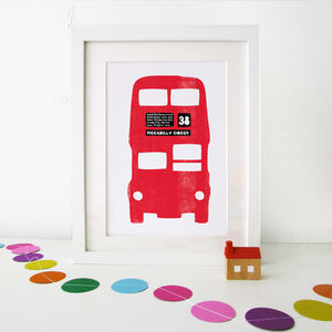 Red London Bus Print