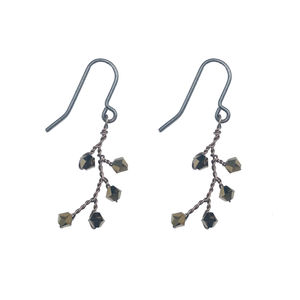 Dark Gold Dewdrop Earrings