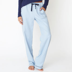 Blue Cotton Pyjama Trousers
