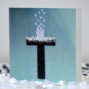 The Cross Butterfly Blank Card - shop by category