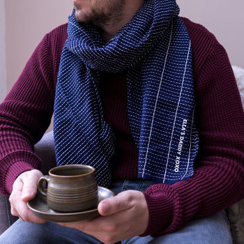 Personalised My Daddy Men's Scarf