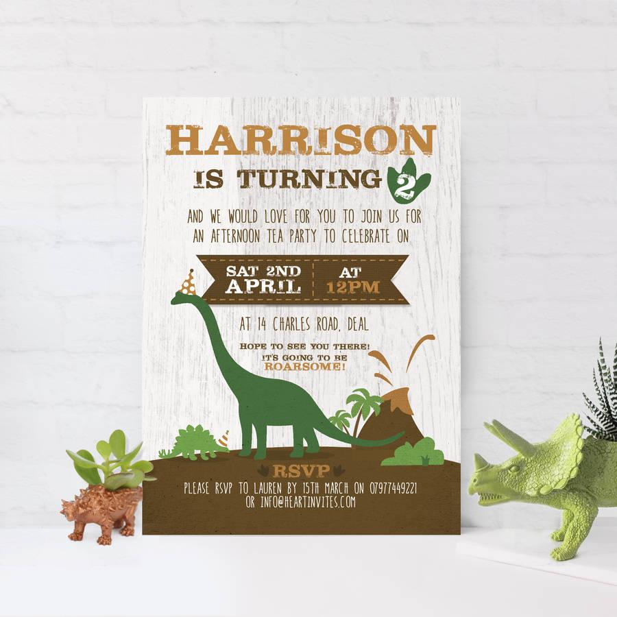Children's Birthday Party Invitations 'Dinosaurs'
