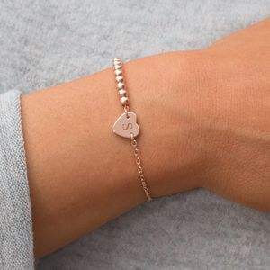 Calla Personalised Heart Bracelet