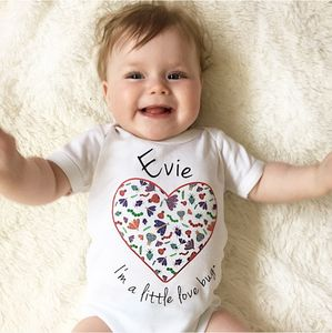 Personalised Love Bug Baby Grow - babygrows