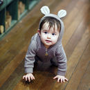 Bambi Winter Hooded Jumpsuit Grey Front Crawl Lifestyle