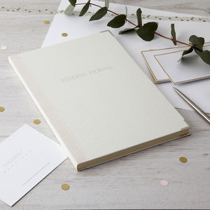 Personalised Wedding Journal - wedding planning ideas