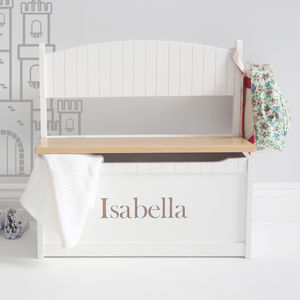 Personalised Toy Chest And Bench - children's room
