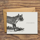 'You're Rather Foxy' Personalised Greeting Card