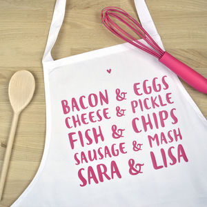 Personalised 'Perfect Pair' Apron