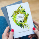 A Set Of Personalised Christmas Wreath Cards