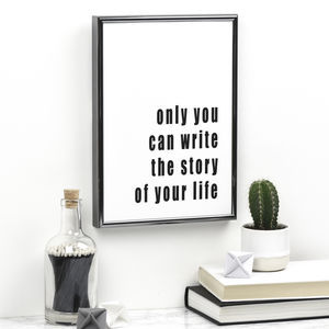 Only You Inspirational Print