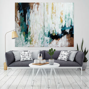 Misconception Large Original Abstract Painting - canvas prints & art