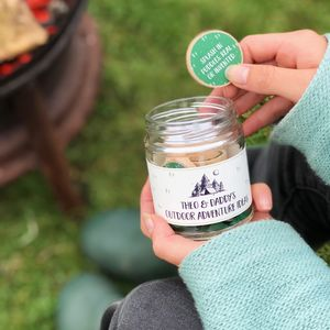 Personalised Daddy's Outdoor Adventure Ideas Jar - games