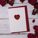 Personalised Initials Heart Valentine's Card