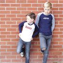 Personalised Kids Baseball Tee