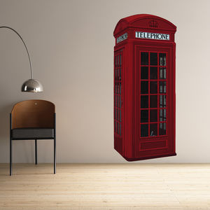 British Phone Box Wall Stickers - wall stickers