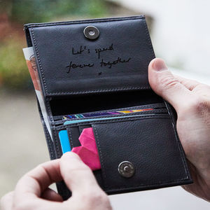 Personalised Men's Leather Wallet With Coin Pocket - gifts for him