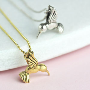 Hummingbird Charm Necklace - summer sale