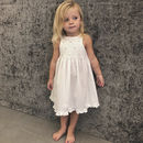 Flower Girl's Personalised Cotton Dress