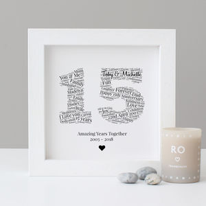 Personalised 15th Anniversary Gift