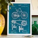 Anatomy Of A Bike Patent Print