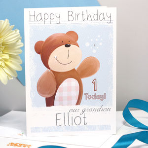 Personalised Bear Relation Birthday Card - birthday cards