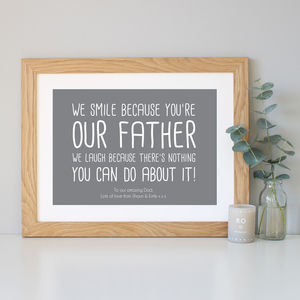 'My Father' Quote Print - family & home