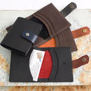 mixed colour leather card wallet group by John Todd