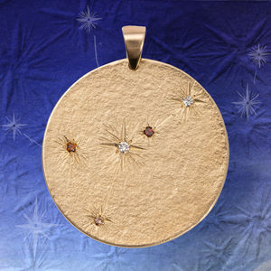 Large Gold Star Constellation With Diamonds